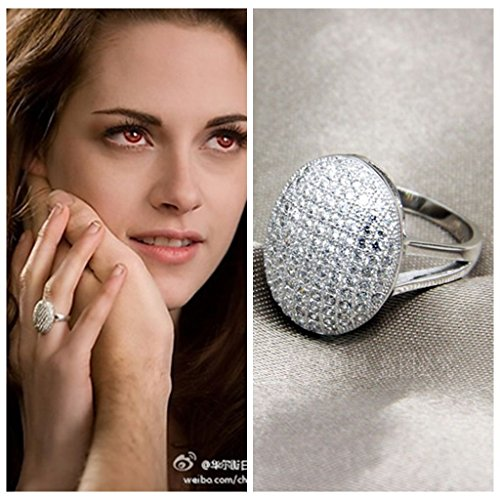 925 Silver Bella's Wedding Ring Engagement Jewelry Birthday Lover Christmas Gift